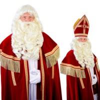 Sinterklaas baard + pruik + draadsnor Myra
