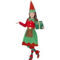 Kerstelf kostuum kind Kerstjurkje meisjes