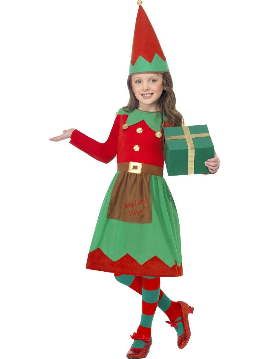 fb9dab847b0eea Kerstelf kostuum kind jurkje kerst verkleedkleding