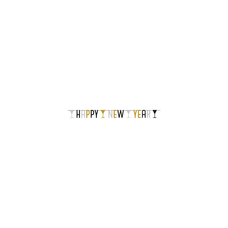 Happy New Year ballonnen nieuwjaar feestartikelen