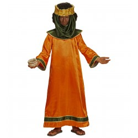 3 Koningen kostuum kind Caspar oranje