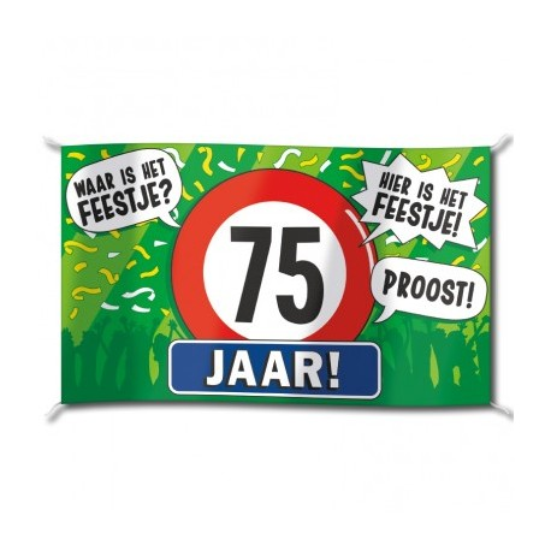 Wonderbaarlijk Verjaardag spandoek vlag kopen ?| Jokershop.be - Feestartikelen ZL-39