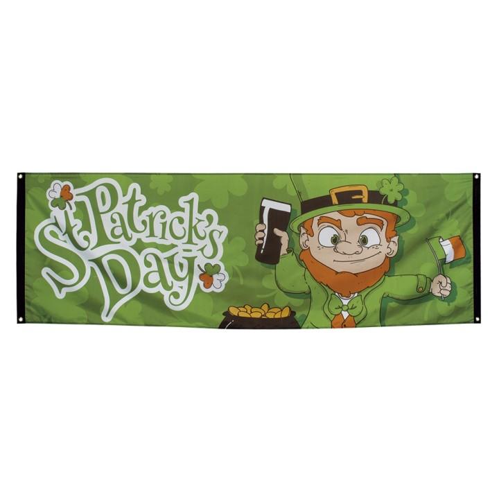 Vlag banner St Patrick's Day 74x220 cm