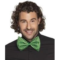 Groene glitter strik St Patrick's Day