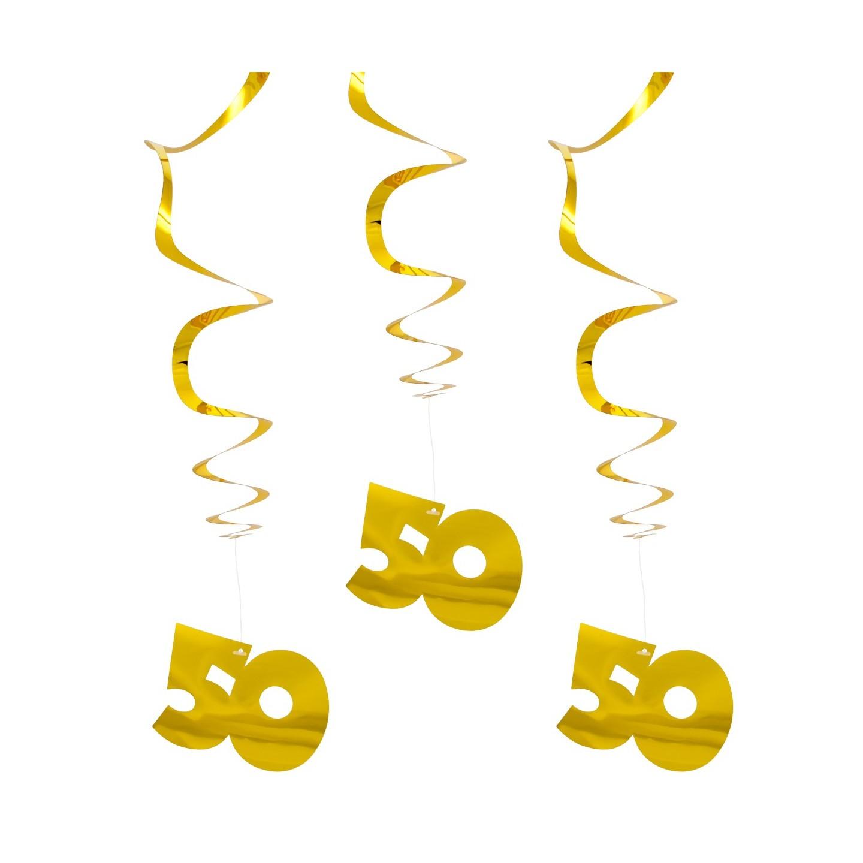50 jaar spiraal versiering zilver feestwinkel for Gouden bruiloft versiering