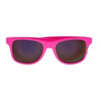 Retro style wayfarer zonnebril fluo neon roze