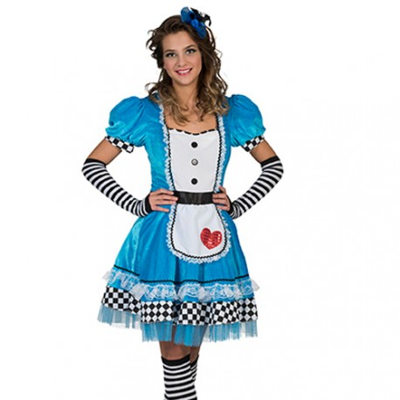 Kostuums Dames.Alice In Wonderland Kostuum Dames Jurk