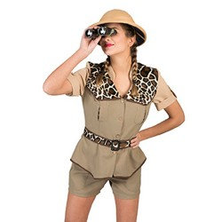 Safari kostuum dames Jungle camouflage pakje