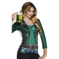 St Patrick's day shirt dames 3D print