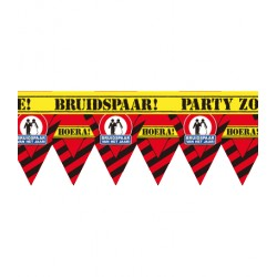 Party tape bruidspaar versiering