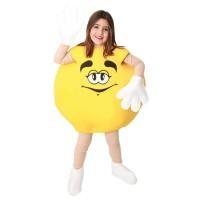 M&m kostuum kind snoepjes pak geel