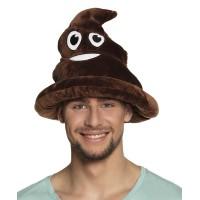 Emoticon lachende drol hoed lachend kakske