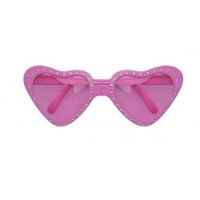 Hartjes bril roze Carnaval feestbril