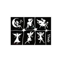 Glitter tattoo sjablonen Y body fairies
