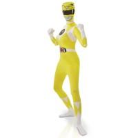 Power Rangers kostuum geel 2nd skin dames