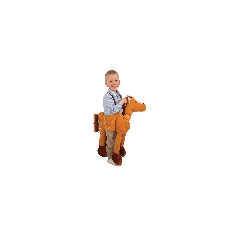 instap kostuum paard kind gedragen door