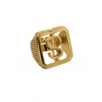 Gouden maffia ring met dollar teken