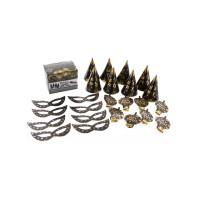 Gouden feestartikelen box 8 personen