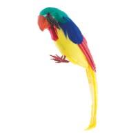 Decoratie papegaai geel 30cm