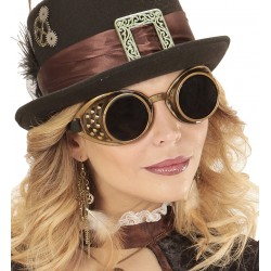 Steampunk accessoires goggle brons