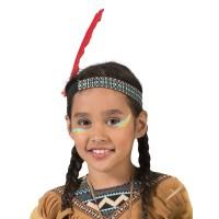 Indianen haarband kind Hoofdtooi met veer