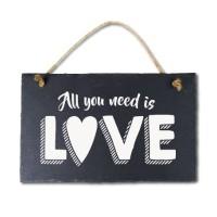 Leisteen met tekst 03 All you need is love