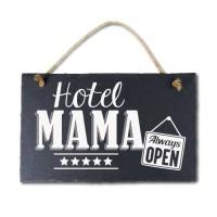 Leisteen met tekst 06 Hotel mama