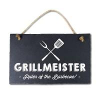 Leisteen met tekst 08 Grillmeister