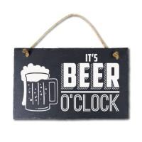 Leisteen met tekst 11 Beer o clock