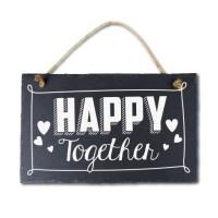 Leisteen met tekst 15 Happy together