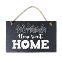 Leisteen met tekst 19 Home sweet home