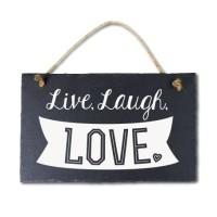 Leisteen met tekst 23 Live, laugh, love
