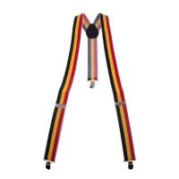 Bretellen België zwart-geel-rood