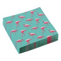 Papieren servetten flamingo 20 stuks