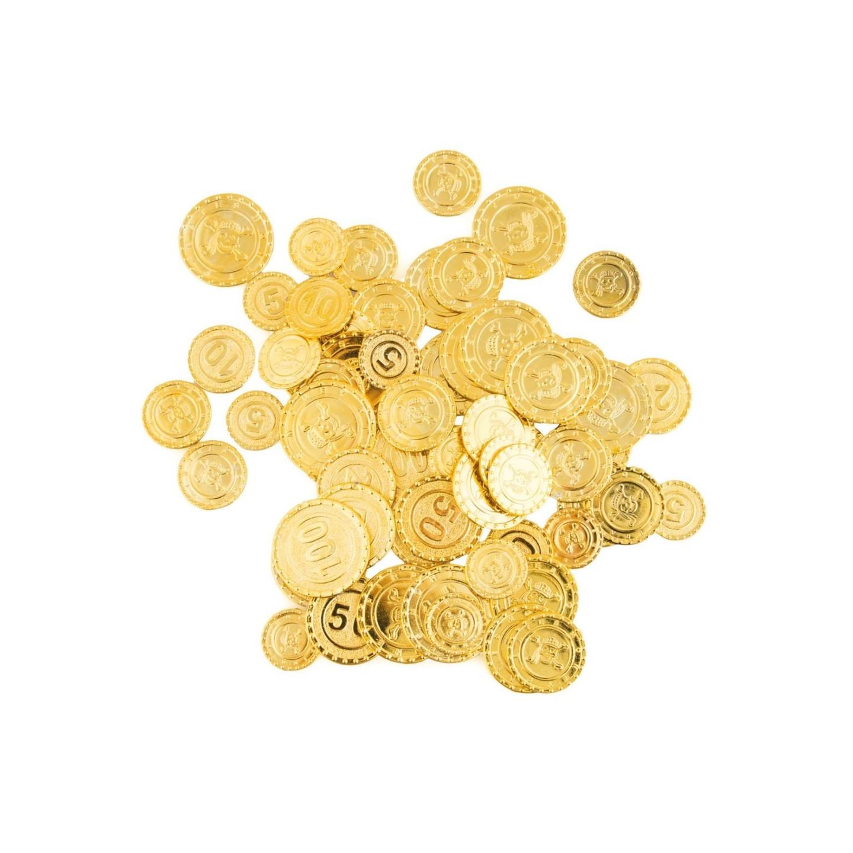 speelgoed piraten geld schatkist munten
