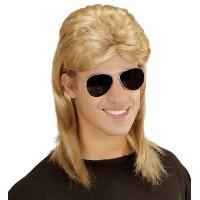 pruik nekmatje jaren 80 90 blond