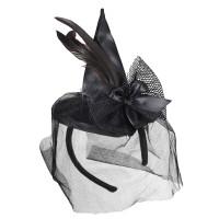 Mini Heksenhoed op Diadeem Zwart