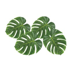 Decoratie palmbladeren tropische hawaii jungle decoratie