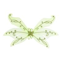 Elfenvleugels Groen met Glitter 70x105 cm