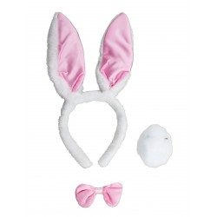 Bunny Setje Oren + Staart + Strikje