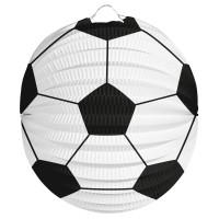 Lampion voetbal bolvorm 22 cm