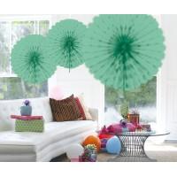 Honeycomb fan papier mint groen 45cm