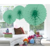 Honeycomb fan papier mint groen 45cm