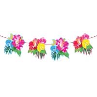 Slinger met tropische bloemen 6 meter