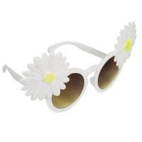 Witte feestbril bloemen hawaii festival bril