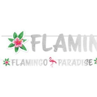 Flamingo Paradise glitter letterslinger 1.35m