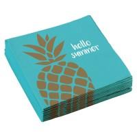 papieren ananas servetten hawaii themafeest versiering