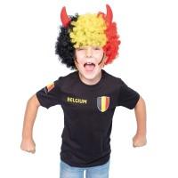 """Belgie shirt kind zwart """"Made in Belgium"""""""