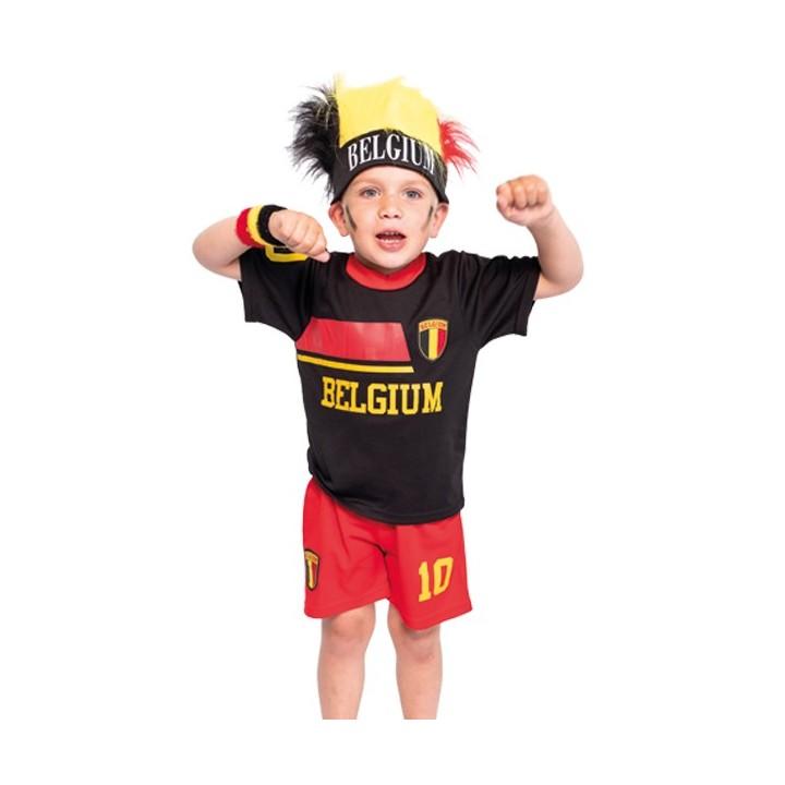 Belgie voetbaltenue kind zwart/rood