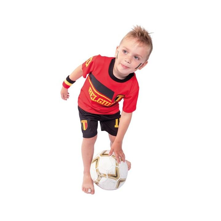 Belgie voetbaltenue kind rood/zwart